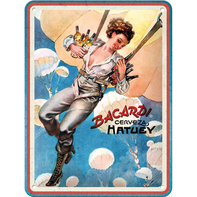 26252 Kilpi 15x20 Bacardi - Cerveza Hatuey Pin Up Girl