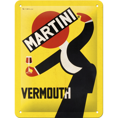 26253 Kilpi 15x20 Martini - Vermouth Waiter Yellow