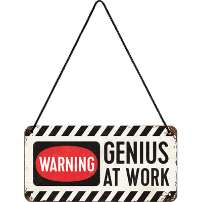 28007 Kilpi 10x20 Warning - Genius at work