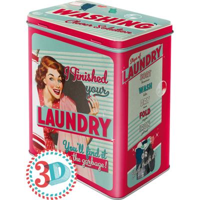30117 Säilytyspurkki L I finished your laundry