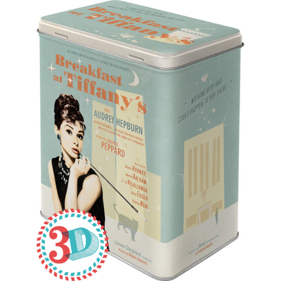 30119 Säilytyspurkki L 3D Breakfast at Tiffany's juliste sininen