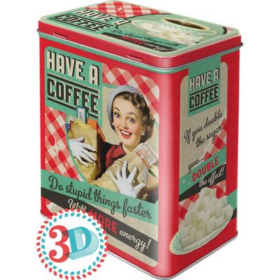 30123 Säilytyspurkki L 3D Have a coffee...