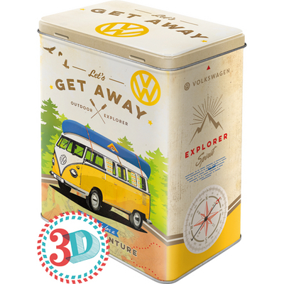 30136 Säilytyspurkki L 3D VW Bulli let's get away