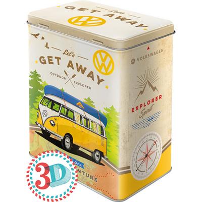 30136 Säilytyspurkki L VW Bulli let's get away