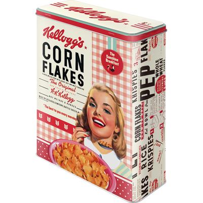 30324 Säilytyspurkki XL 3D Kellogg's Corn Flakes Collage tyttö