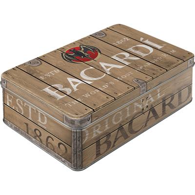 30575 Säilytyspurkki Flat Bacardi - Wood Barrel Logo