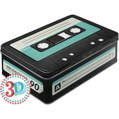 30714 Säilytyspurkki flat 3D C-kasetti