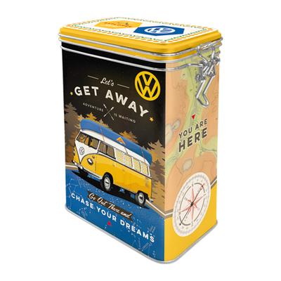 31102 Säilytyspurkki klipsillä VW Bulli Let's get away