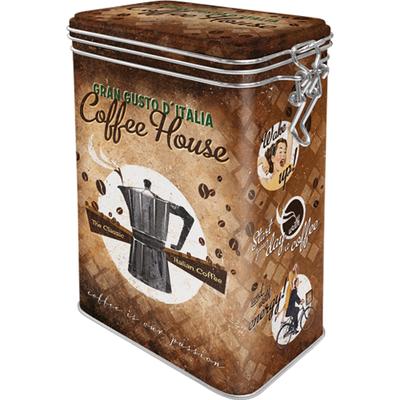 31103 Säilytyspurkki klipsillä Coffee House