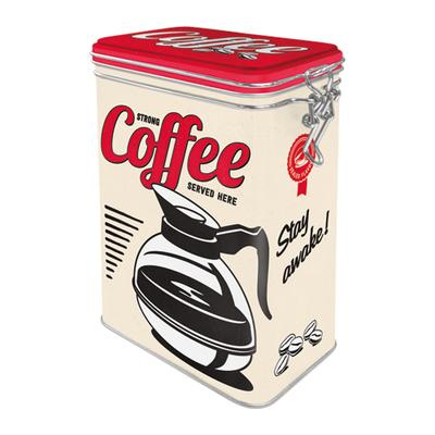31105 Säilytyspurkki klipsillä Strong coffee served here