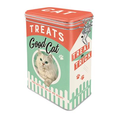 31107 Säilytyspurkki klipsillä Cat Treats Good Cat