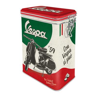 31117 Säilytyspurkki klipsillä Vespa The Original Italian Classic
