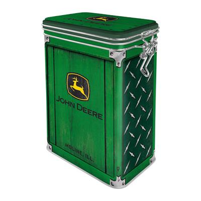 31118 Säilytyspurkki klipsillä John Deere - Diamond Plate Green