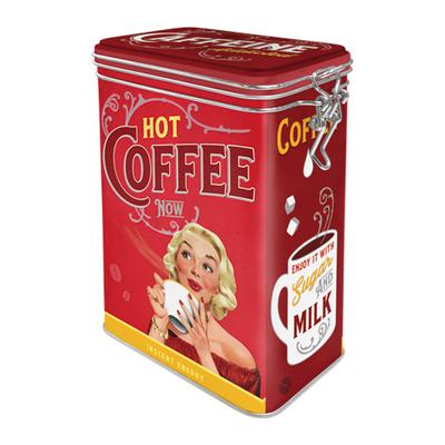 31126 Säilytyspurkki klipsillä Hot Coffee Now