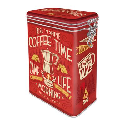 31129 Säilytyspurkki klipsillä Camp Coffee Time