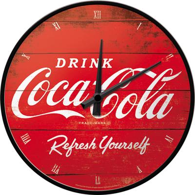 51074 Seinäkello Coca-Cola logo