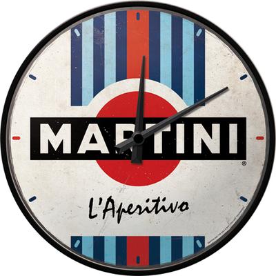 51205 Seinäkello Martini - L'Aperitivo Racing Stripes
