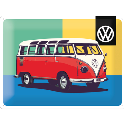 63326 Kilpi 30x40 VW Bulli Pop Art