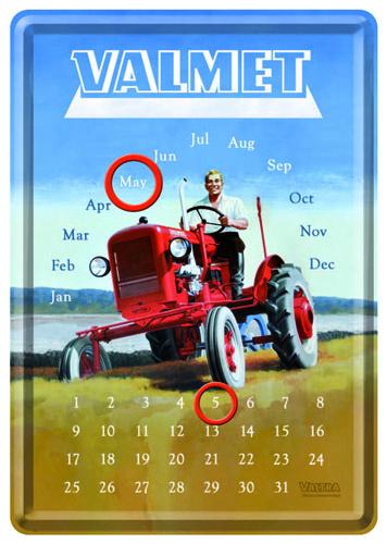70305 Kalenteripostikortti Valmet