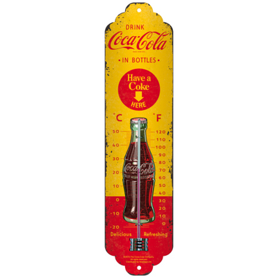 80311 Lämpömittari Coca-Cola in bottles