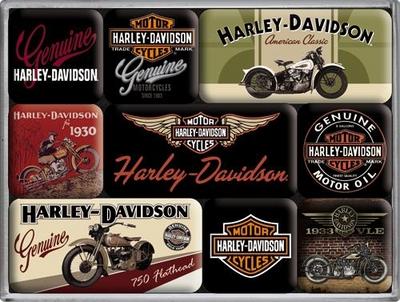 83037 Magneettisetti Harley-Davidson moottoripyörät