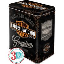 30107 Säilytyspurkki L 3D Harley-Davidson Genuine logo