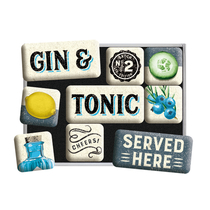83116 Magneettisetti Gin & Tonic Served Here